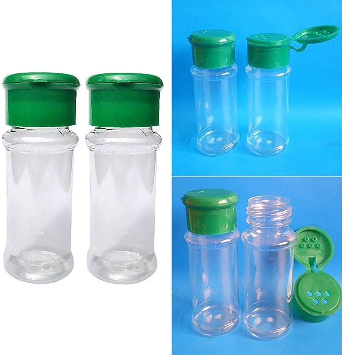 free size Red Lot de 2 bo/îtes /à assaisonnement en plastique translucide pour sali/ère et poivri/ère 100 ml