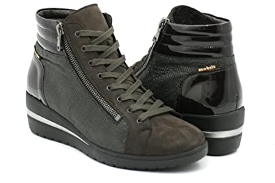 72f5eeba09dd7d Mephisto Mobils by Pavina Sneakers Femme avec Bouchon extractible Semelle  6951-1400 - 42551 Dark