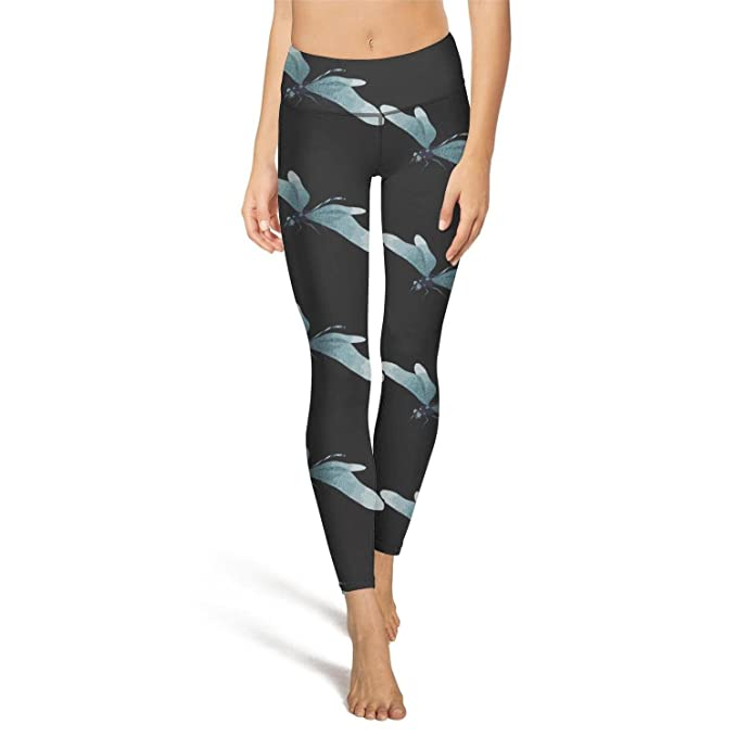 Hamily Broderei Womens Yoga Leggings Abstract Dragonfly ...
