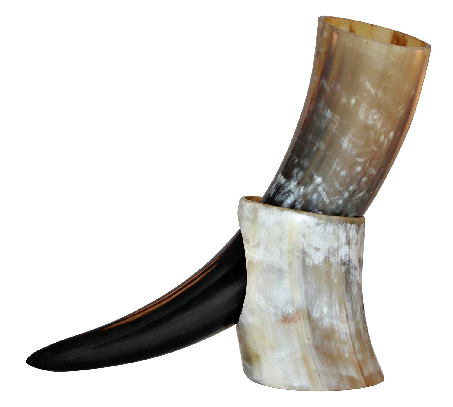 Viking Cup Drinking Horn Tankard Authentic Medieval Inspired drinking horn with stand