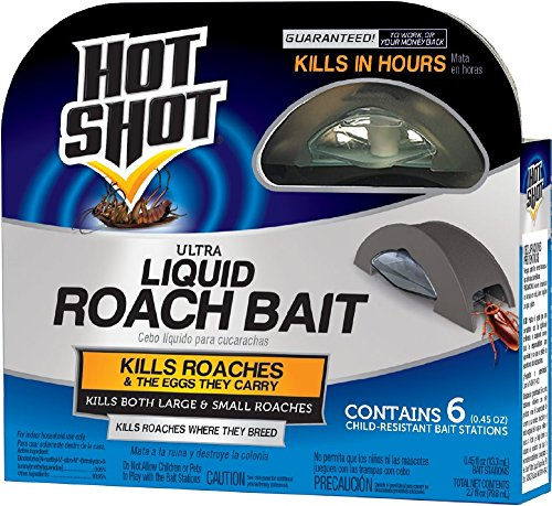 Hot Shot Ultra Liquid Roach Bait, 6-Count (Best Product To Kill Roaches)