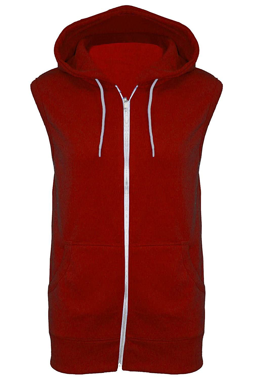 Fashion Star Mens Casual Winter Sleeveless Hooded Hoodies Zipper Gilet Sweatshirt Jacket Jumper Top UK Sizes S-XL BE JEALOUS