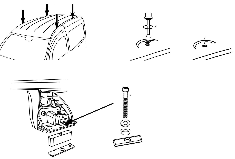 ab 2012 Kasten 3//5 T/ürer Aluminium Dachtr/äger Aurilis Original kompatibel mit Mercedes Citan