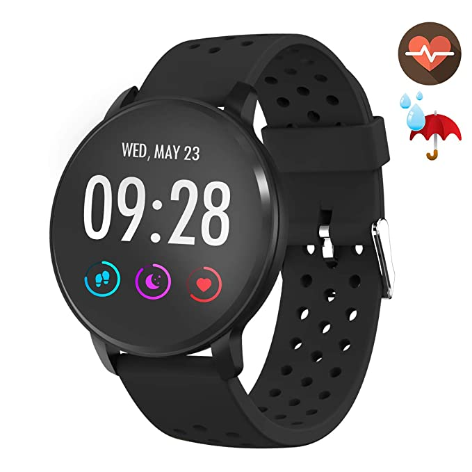 a170960e1 CatShin Smart Watch-CS09 IP68 Waterproof Fitness Tracker with Heart Rate  Monitor,Activity Tracker