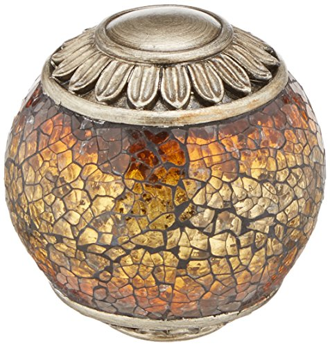 - Lite Source C41027 Narcisco Sphere with Mosaic Glass Accent, Dark Bronze and Pewter Finish