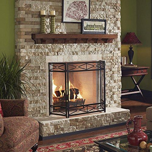 Parker 60 Quot Stained Rustic Oak Fireplace Mantel Shelf Buy