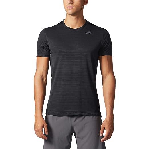 3c67ec9c6b86 adidas Men's Climalite Energy Running Nova Training Short Sleeve Tee (M,  Black)