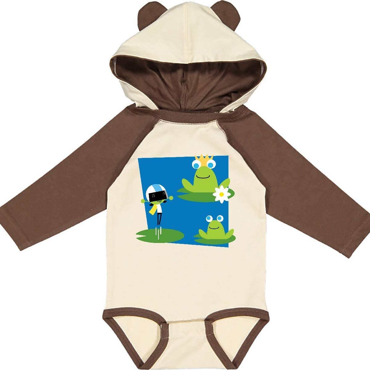 inktastic Dee and Frogs Long Sleeve Creeper PBS Kids