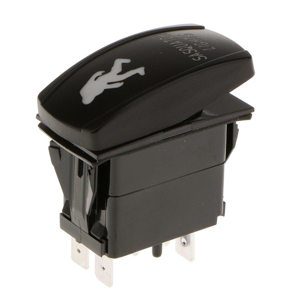 XXL Blue Rear Light 12V//24V Car Boat ON//OFF Push Button Light Rocker Toggle Switch 5 pin