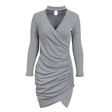 Ruched Sweater Dress