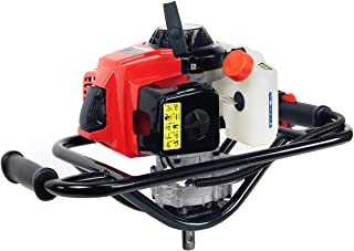 XtremepowerUS 63CC V-Type 2 Stroke Gasoline Post Hole Digger 1-Person Dig Auger with 8' inch Auger Bit (Digger + 6' Bit)