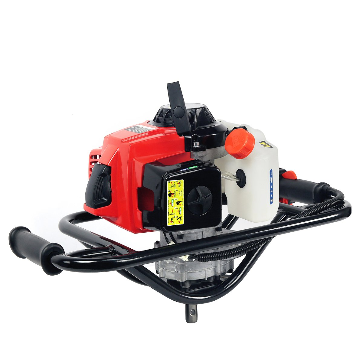 XtremepowerUS V-Type 63CC 2 Stroke Gas Post Hole Digger One Man Auger Gasoline Recoil EPA Motor (Digger Engine)