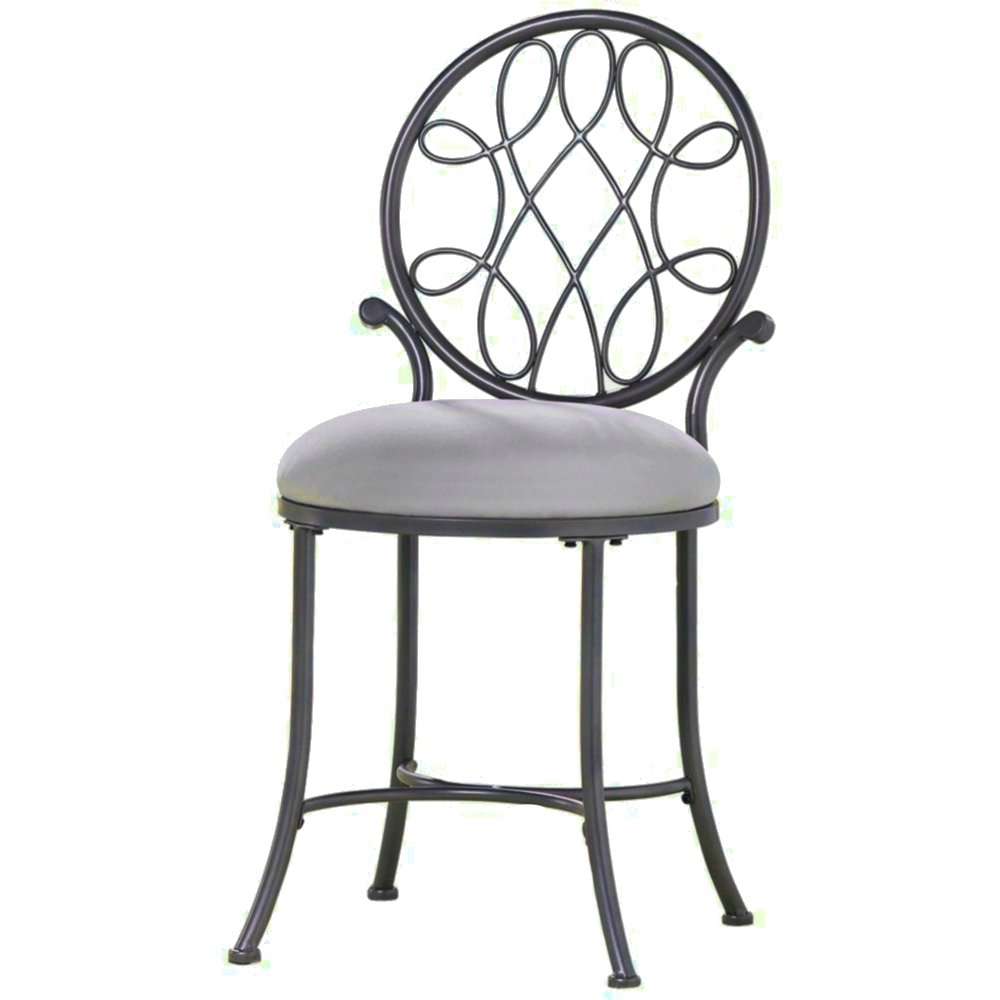 Tremendous Amazon Com Round Vanity Stool Chair Metal Frame Padded Machost Co Dining Chair Design Ideas Machostcouk