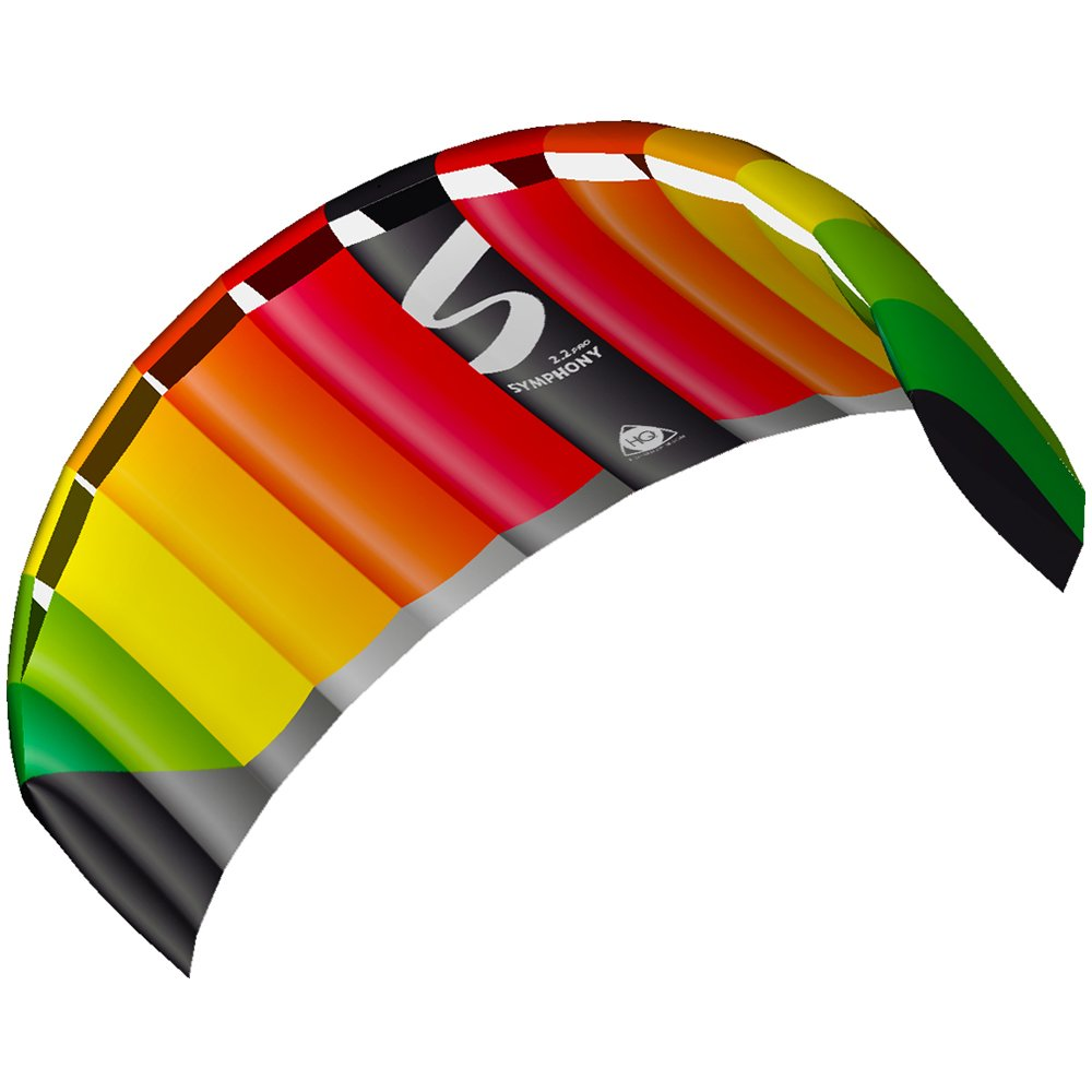 HQ Kites Symphony Pro 2.2 Stunt Kite  87 Inch Dual - Line Sport Kite,  Color: Rainbow- Active Outdoor Fun for Ages 14 Years and Up