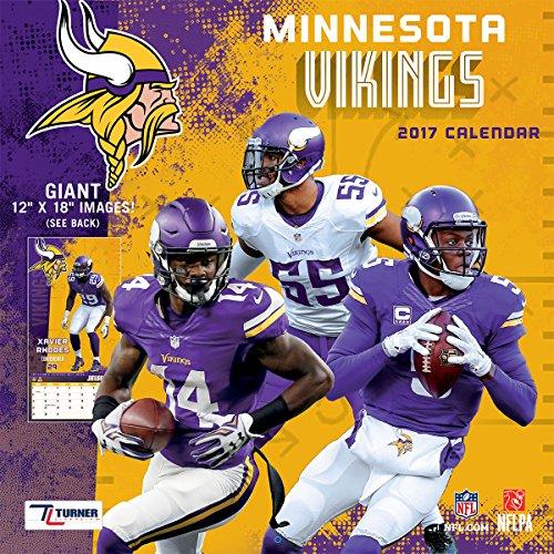 Turner Licensing Sport 2017 Minnesota Vikings Team Wall Calendar, 12