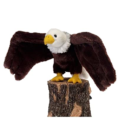 "Fiesta Toys A36039D Bald Eagle Bird Stuffed Animal Plush Toy, 9"", Brown/White: Toys & Games"