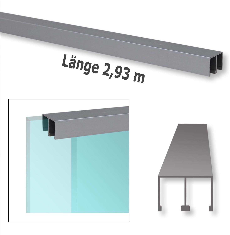 Riel de guía doble de aluminio, puerta corredera, puerta corredera de cristal, puertas de muebles, 2,93 m de largo: Amazon.es: Bricolaje y herramientas
