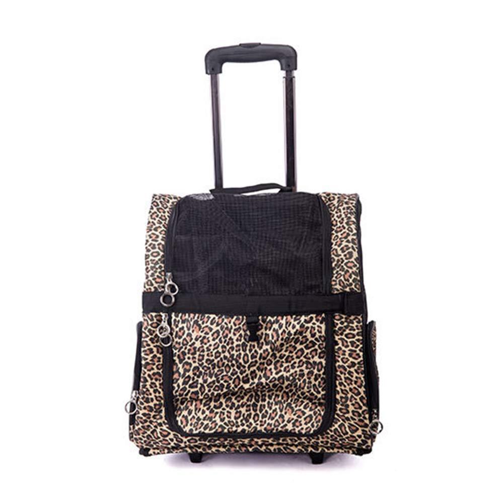 Large Long Elliot Pet Trolley Case Portable Folding Mesh Breathable Lightweight Fabric Adjustable Dog Cat Pet Carrier Bag,L