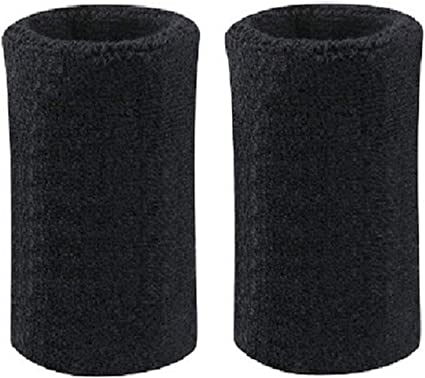 Cotton Wristbands Armbands 1 Pair 6 Inch Wrist Sweatband in 11 Athletic