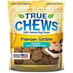 True Chews Premium Sizzlers Dog Treats, Chicken & Apple, 12 Ounce by Tyson Pet Products