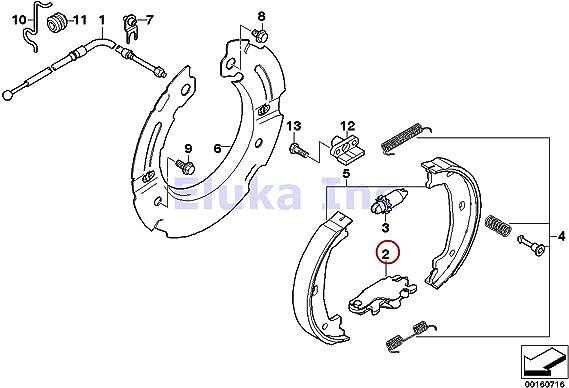 2007 bmw 525i brake diagram amazon com bmw genuine brake service parking brake actuator  bmw genuine brake service parking brake