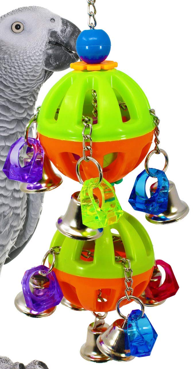 Bonka Bird Toys 1509 Tuff Bellpull Tower Parred cage Toys Cages African Grey. Quality Product Hand Made in The USA.
