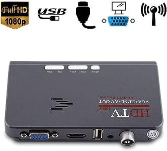 Wendry DVB-T2 TV Box,1080P HD HDMI TV Box Digital,TV Box Tuner Receptor Convertidor,Salida VGA para Monitor LCD/CRT: Amazon.es: Electrónica