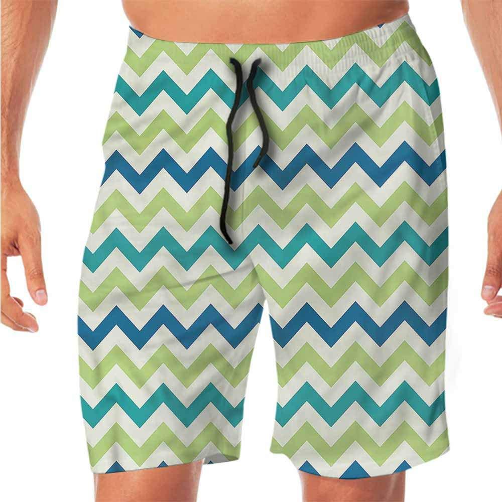 Quick-Dry Beach Boys Shorts Chevron,Vintage Patchwork Art Shorts for Teen