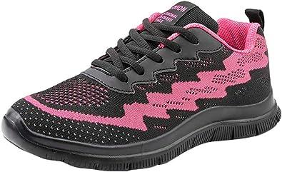 Logobeing Zapatillas de Deporte con Cojines de Aire Calzado de Running Net para Estudiante Volar Zapatos Tejidos Zapatillas Deportivas de Mujer Gimnasia Sneakers 35-41 (41, Negro-2019): Amazon.es: Zapatos y complementos