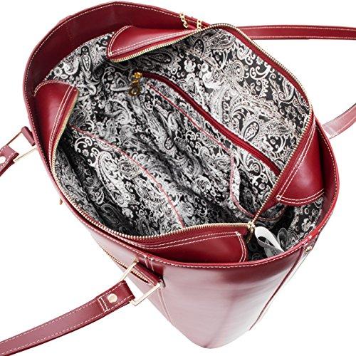 McKleinUSA Leder Ladie s Tasche mit Tablet–Rot rot Y4oQT