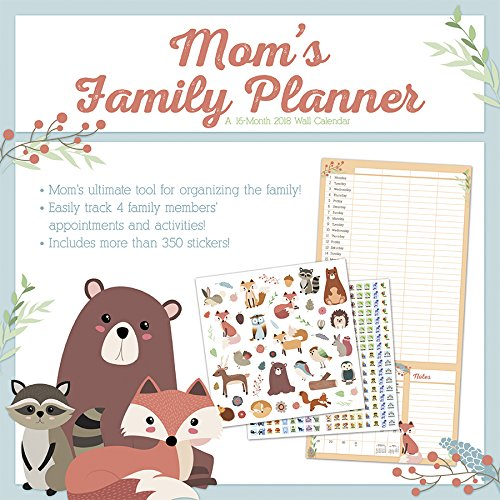 Mom's Family Planner 2018 Wall Calendar