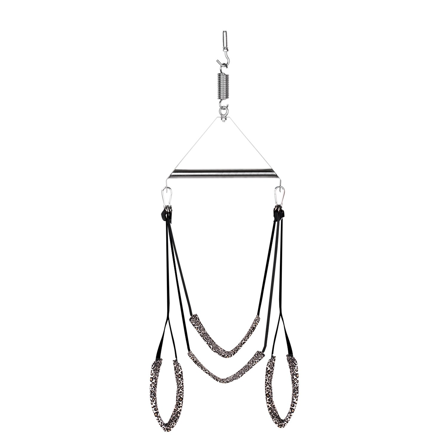 Vmitor Luxury Heavy Duty Indoor Swing with Steel Triangle Frame and Spring for Fetish Sex Bondage Unisex,Super Durable and Soft