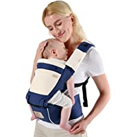 Bebamour Mesh Newborn Baby Carrier Front and Back Carry Baby Newborns to Toddler Baby Hip Carrier with 2 Pieces Teething…