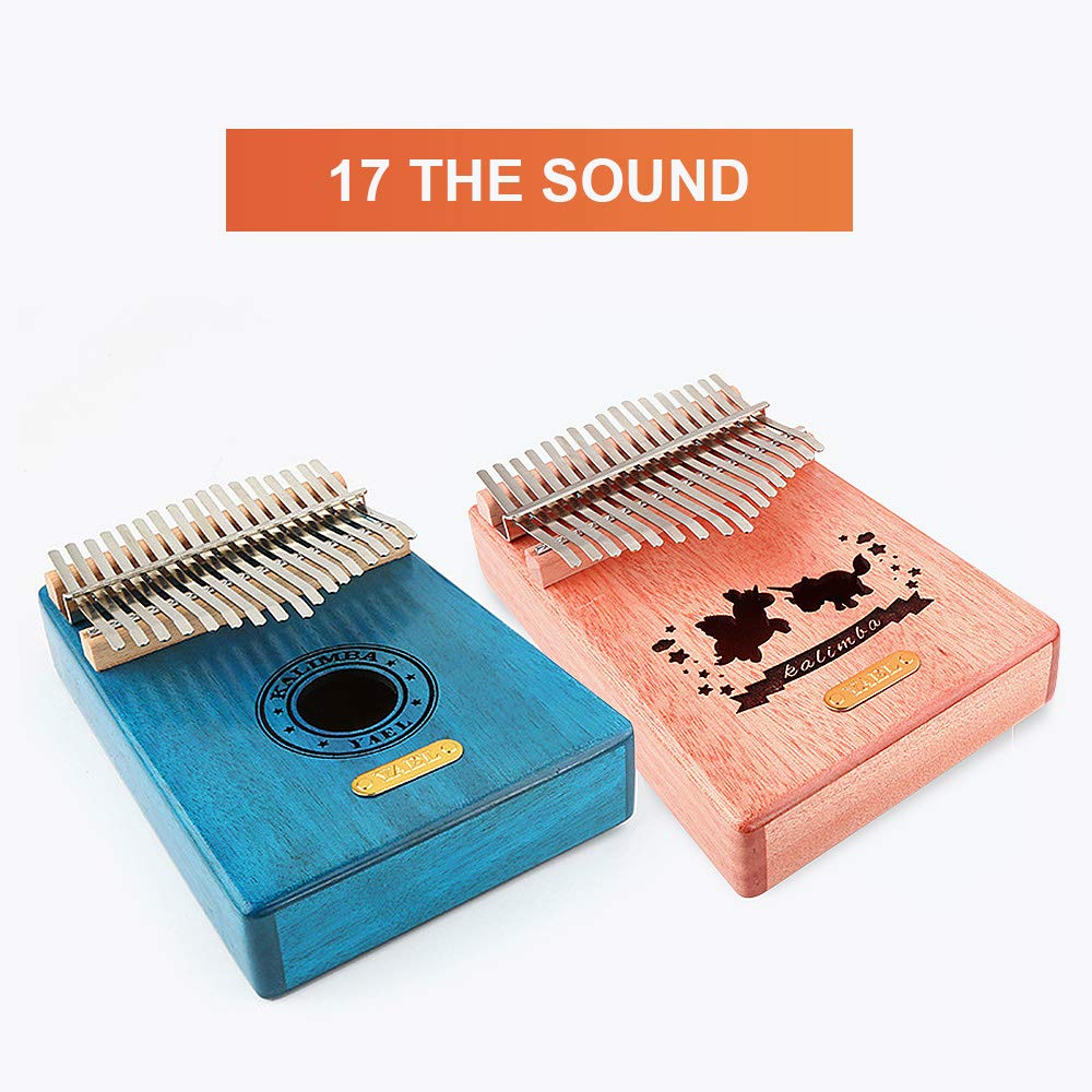 QStyle Kalimba 17 Key Thumb Piano Include Tuning kit Hammer and Study Instruction & Simple Sheet Music Suitable for kids Adult Beginners, Professionals - Perfect Gift (blue) by QStyle (Image #3)