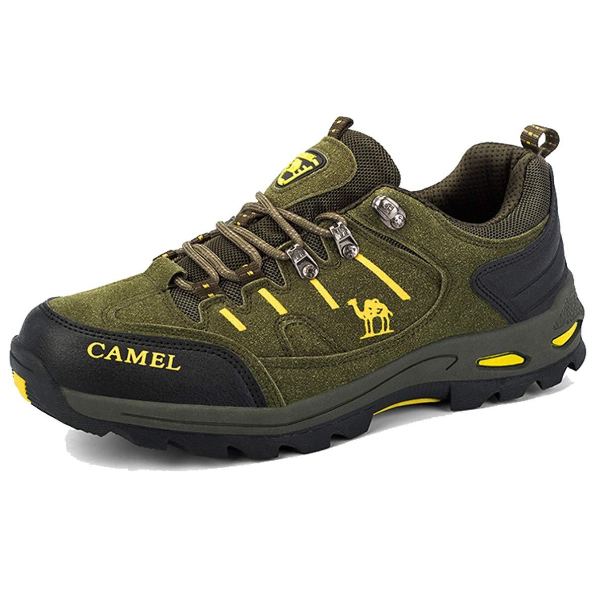 Adong Männer Bergsteigen Stiefel Turnschuhe Schuhe Jungle Trekking-Schuhe ow-Top-Schuhe für alle Saison,A,42EU