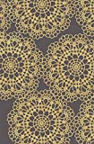 Maxy Home Adaline Contemporary Lace Yellow 3 ft. 3 in. x 5 ft. Area Rug