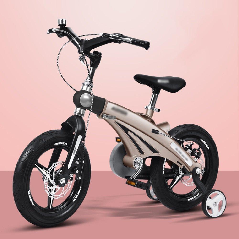 FEIFEI 子供用自転車ベビーキャリッジ12/14/16インチマウンテンバイク自転車折りたたみハンドルバーカラー複数選択 B07CY1LGTZ  シャンパンゴールド しゃんぱんご゜るど 14 inches