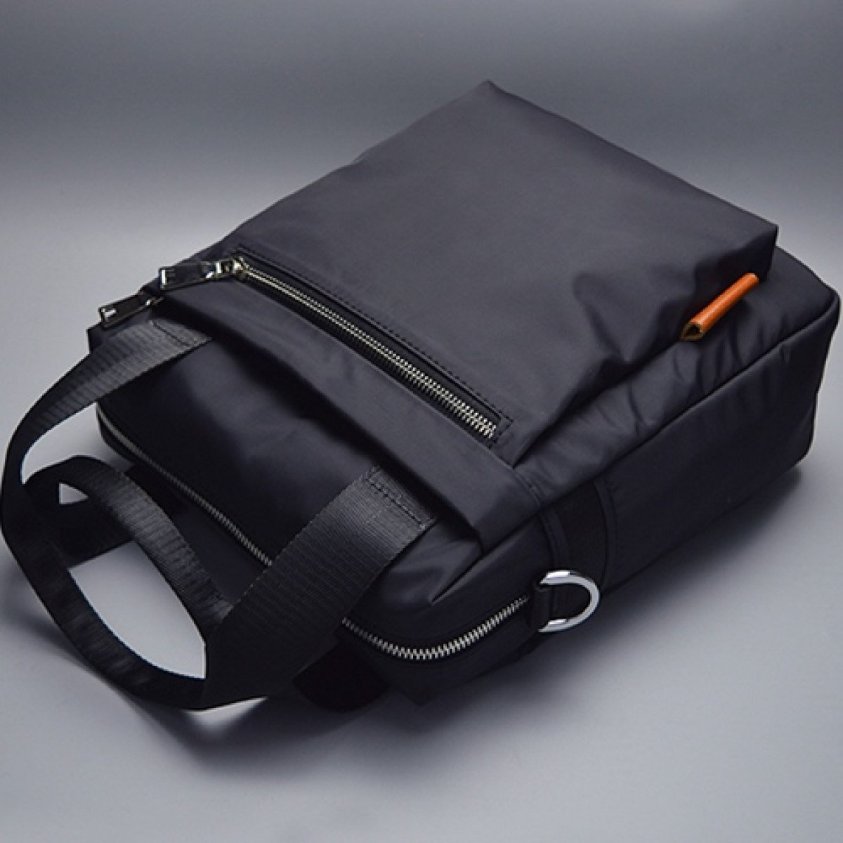 SJLN Men 8 Inch Waterproof Notebook Computer Bag Portable Shoulder Diagonal Package Briefcase Oxford Spinning Simple Retro Business English Bag,Black-OneSize by SJLN (Image #2)