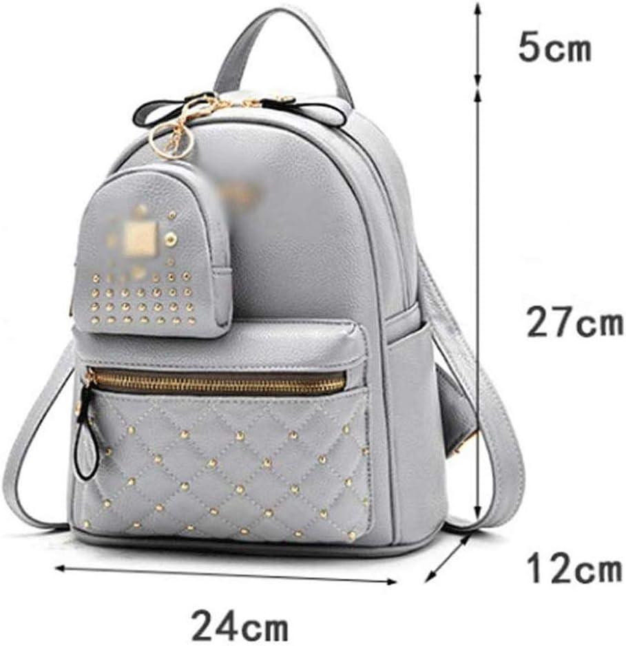 ZXWYB Donne Eleganti Zaino Women Zaino Signore Zaino Scuola Sacchetti Impermeabile Anti-furto Borse Daypack Spalla (Color : Gray) White