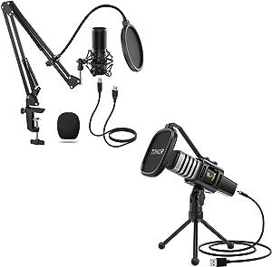 TONOR Q9 USB Microphone Kit with TC30 USB Consenser Microphone