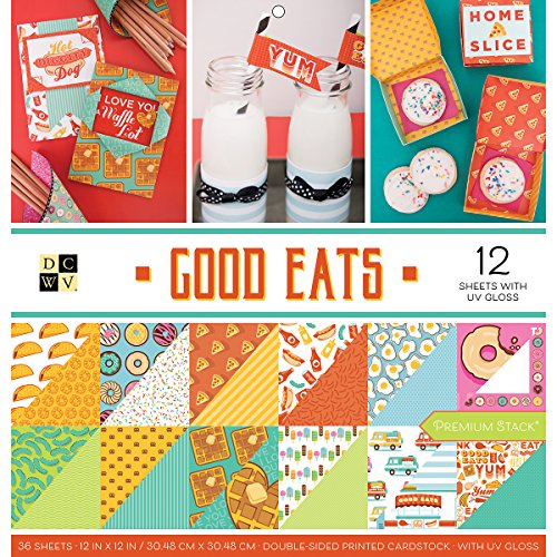 Stock Good Eats Premium Printed Cardstock Stack, 12