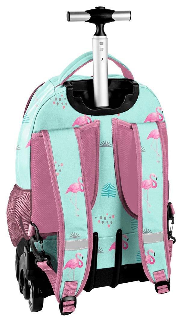82c8cb11ec ... Paso Fenicottero Blu-rosa Grande Zaino con Ruote Trolley XXL Scuola  Scuola Scuola Media, ...