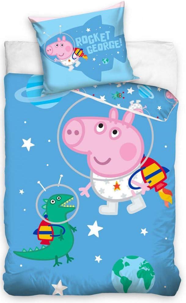 Peppa Wutz Pig Kinder Bettw/äsche 100 x 135cm