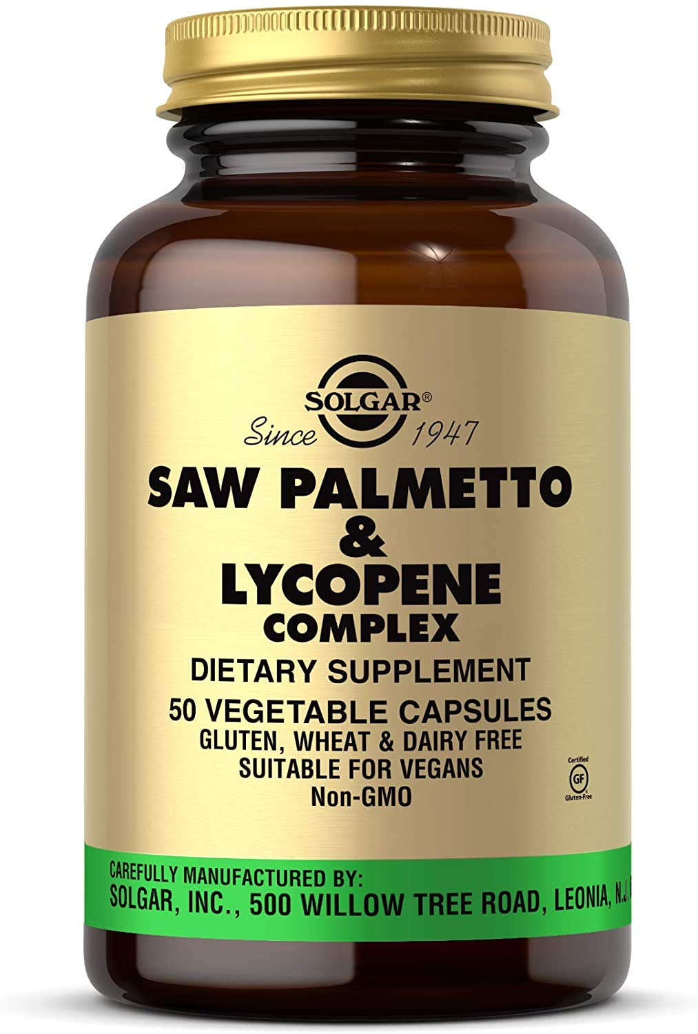 Solgar Saw Palmetto Lycopene Complex Vegetable Capsules, 50 Count