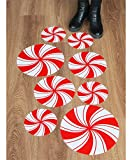 Best Sticker Decals For Holiday Christmas - Peppermint Floor Decals/ Stickers for Christmas Party Decoration Review