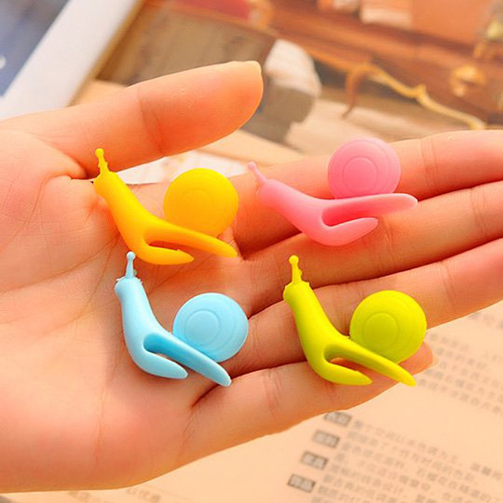 BCHZ 6pcs Silicone Glass Markers Snail Wineglass Label for Hanging Tea Bag Tea Bag Clip by BCHZ (Image #3)