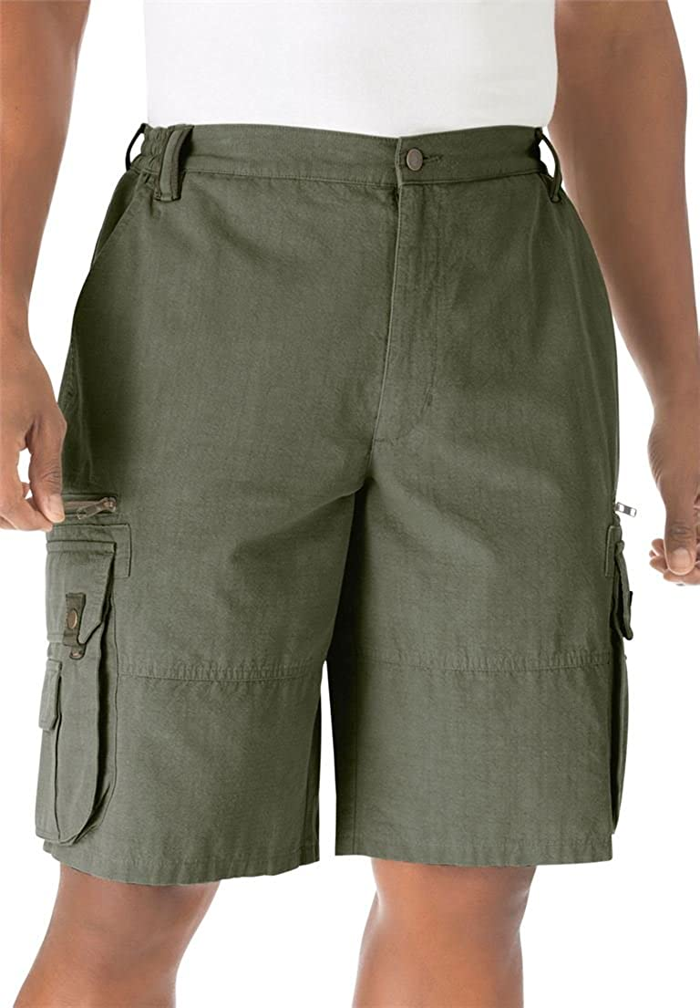 Boulder Creek Men's Big & Tall Ripstop Expedition Cargo Shorts