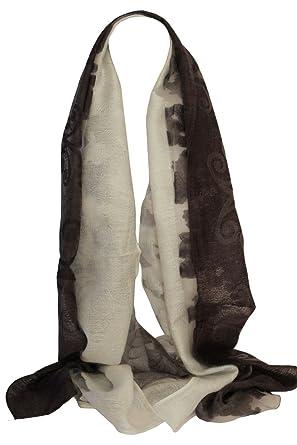 Bullahshah Foulard imprimé floral en soie douce écharpe en organza écharpe  châle foulard écharpe tête ( 48c3d49b5d0