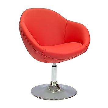 Cashoffice - Sillón Butaca de Diseño Símil Piel Rojo ...