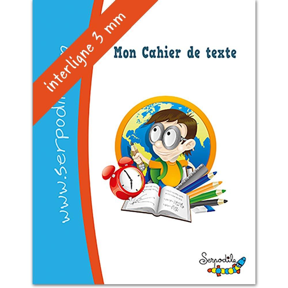 Cahier de texte - lignes de couleurs - interligne 3mm Serpodile 9791090155312